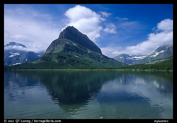Peak above Swiftcurrent lake. Glacier National Park, Montana, USA.