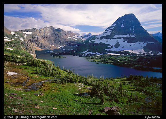 Hidden lake and peak. Glacier National Park (color)