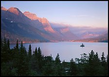 St Mary Lake and Wild Goose Island, sunrise. Glacier National Park ( color)