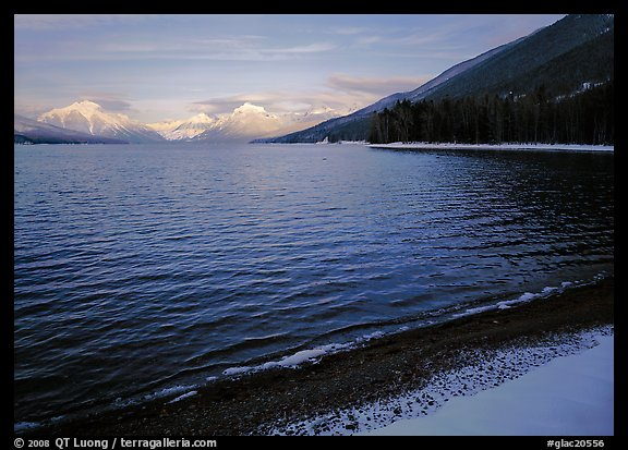 Lake McDonald in winter. Glacier National Park (color)