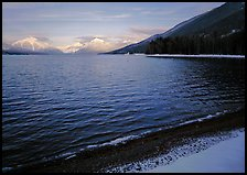 Lake McDonald in winter. Glacier National Park, Montana, USA.