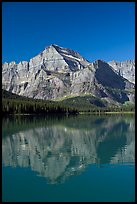 Mt Gould reflected in Lake Josephine, morning. Glacier National Park ( color)