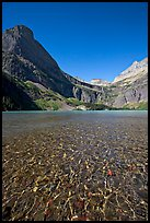 Pebbles, Grinnell Lake and Angel Wing, morning. Glacier National Park, Montana, USA.