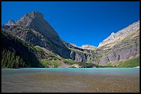 Grinnell Lake, Angel Wing, and the Garden Wall. Glacier National Park, Montana, USA. (color)