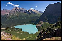Grinnell Lake, Angel Wing, and Allen Mountain, afternoon. Glacier National Park, Montana, USA. (color)