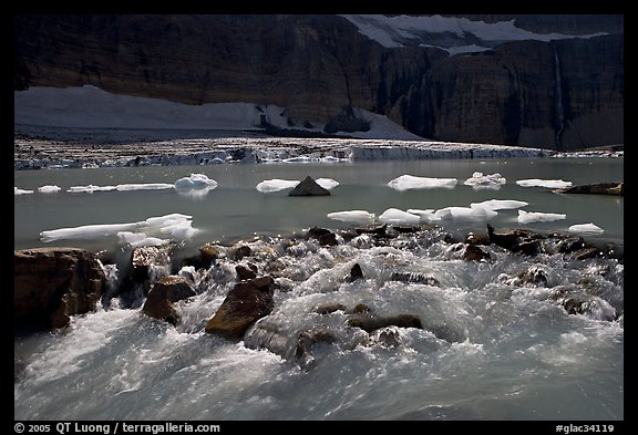 Outlet stream of glacial lake. Glacier National Park (color)