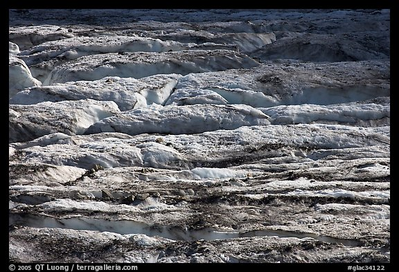 Crevasses on Grinnell Glacier. Glacier National Park (color)