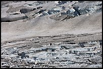 Crevasses on Grinnell Glacier, the largest in the Park. Glacier National Park, Montana, USA. (color)