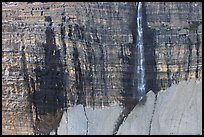 Rock wall and Salamander Falls. Glacier National Park, Montana, USA.