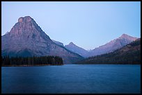 Sinopah Mountain above Two Medicine Lake at dawn. Glacier National Park ( color)