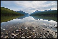 Bowman Lake. Glacier National Park ( color)