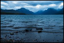 Waves and clouds, Lake McDonald. Glacier National Park ( color)