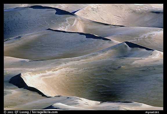 Dune ridges. Great Sand Dunes National Park (color)