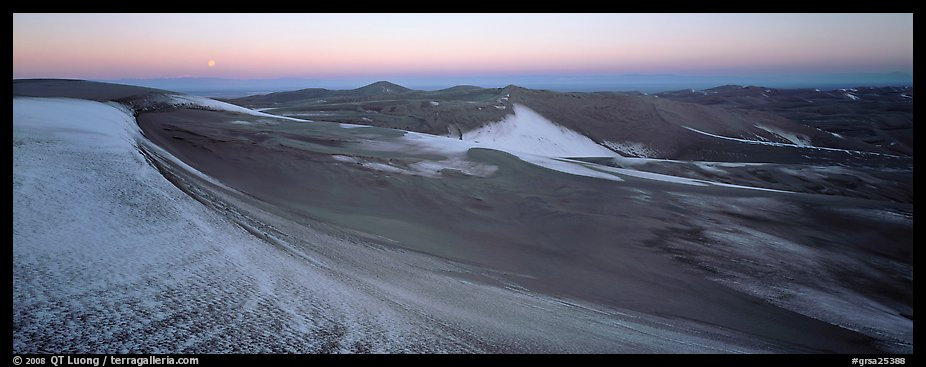 Dune field in winter at dawn. Great Sand Dunes National Park and Preserve (color)