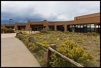Visitor center. Great Sand Dunes National Park, Colorado, USA. (color)