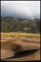 Rainbow over dune field. Great Sand Dunes National Park and Preserve ( color)
