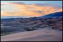 Dunes and sunset clouds. Great Sand Dunes National Park, Colorado, USA. (color)