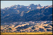 Distant Dunefield and Sangre de Cristo Range. Great Sand Dunes National Park and Preserve ( color)
