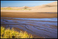 Medano Creek and dunes. Great Sand Dunes National Park and Preserve ( color)