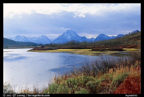 Oxbow bend and Mt Moran. Grand Teton National Park (color)