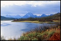 Oxbow bend and Mt Moran. Grand Teton National Park, Wyoming, USA. (color)