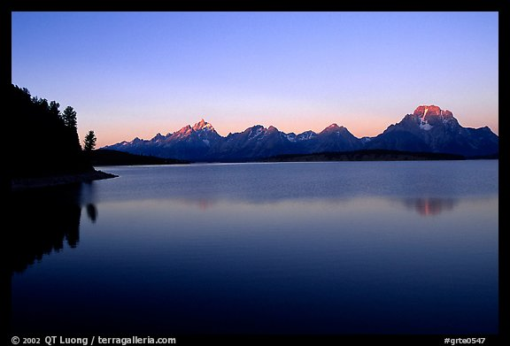 The Teton range above Jackson, sunrise lake. Grand Teton National Park (color)