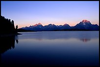 The Teton range above Jackson, sunrise lake. Grand Teton National Park, Wyoming, USA.