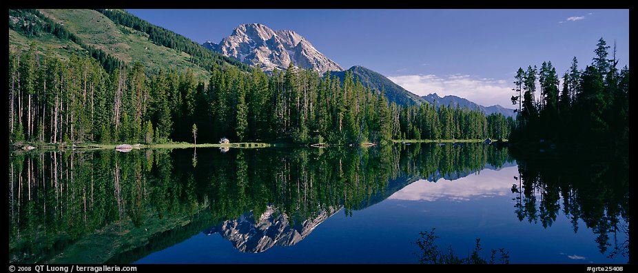 Mountain landscape with Lake reflection. Grand Teton National Park (color)