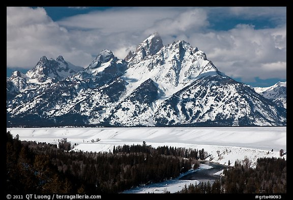 Tetons in winter. Grand Teton National Park (color)