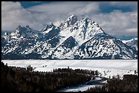Tetons in winter. Grand Teton National Park, Wyoming, USA.