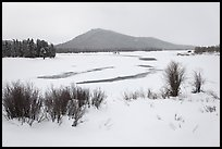 Oxbow Bend in winter. Grand Teton National Park, Wyoming, USA. (color)