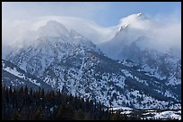 South Teton and Grand Teton in winter. Grand Teton National Park, Wyoming, USA.