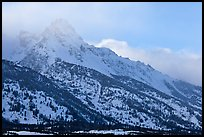 Mount Owen in winter. Grand Teton National Park, Wyoming, USA.
