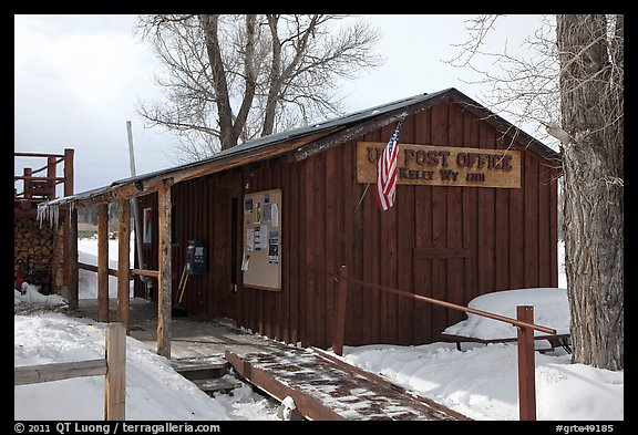 Kelly Post Office. Grand Teton National Park (color)