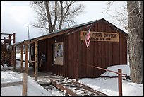 Kelly Post Office. Grand Teton National Park, Wyoming, USA. (color)