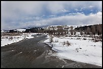 Gros Ventre River in winter. Grand Teton National Park, Wyoming, USA.