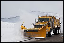 Snowplow. Grand Teton National Park, Wyoming, USA.
