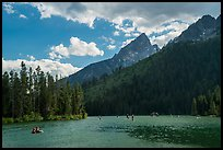 Water recreation, String Lake. Grand Teton National Park ( color)