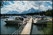 Colter Bay Marina. Grand Teton National Park ( color)