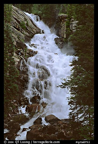 Hidden Falls. Grand Teton National Park (color)