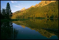 String Lake and Tetons, sunrise. Grand Teton National Park, Wyoming, USA.