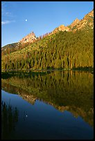 String Lake and Tetons, sunrise. Grand Teton National Park, Wyoming, USA. (color)