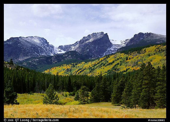 Hallett Peak and Flattop Mountain in fall. Rocky Mountain National Park (color)