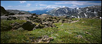Alpine tundra scenery. Rocky Mountain National Park (Panoramic color)