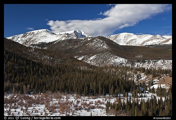 Late winter rockies landscape. Rocky Mountain National Park (color)