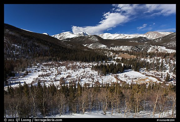 Mountain landscape in late winter. Rocky Mountain National Park (color)