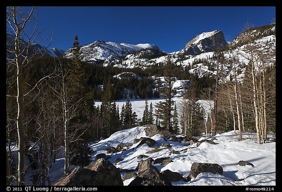 Bear Lake in winter. Rocky Mountain National Park (color)