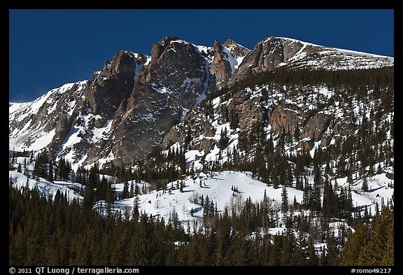 Hallet Peak in winter. Rocky Mountain National Park (color)