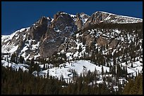 Hallet Peak in winter. Rocky Mountain National Park ( color)