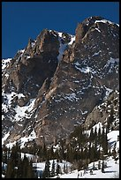 Craggy mountain in winter. Rocky Mountain National Park ( color)